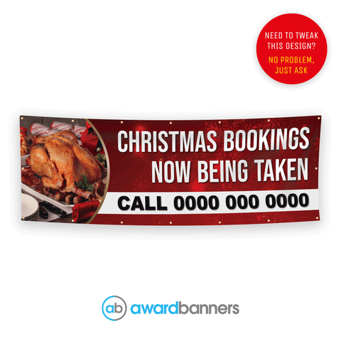 Christmas Bookings Pre-Designed Banner - AB141