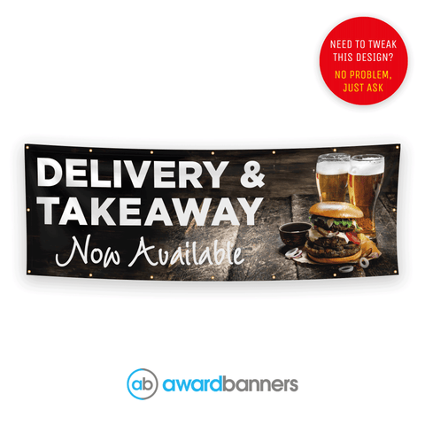 Delivery & Takeaway Now Available Pre-Designed Banner Banner - AB142