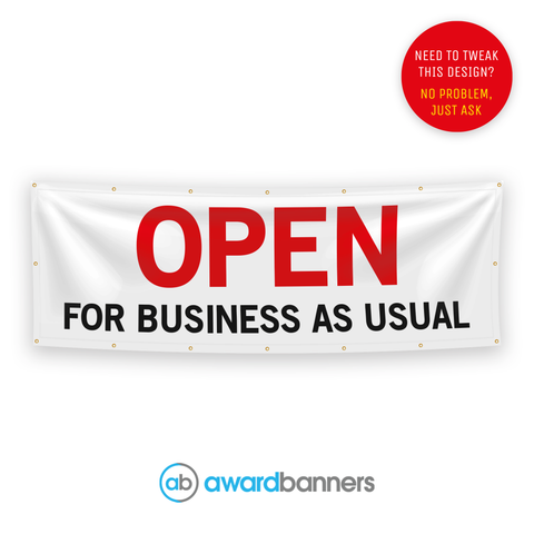 Opening For Business As Usual Pre-Designed Banner - AB213