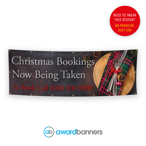 Christmas Bookings Pre-Designed Banner - AB218