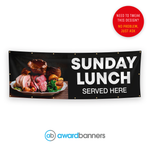 Sunday Lunch Served Here Pre-Designed Banner - AB219