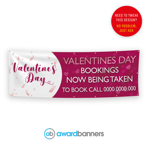 Valentines Day Bookings Pre-Designed Banner - AB220