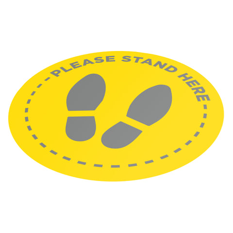 Please Stand Here - 400mm Circle - Social Distancing Floor Graphic