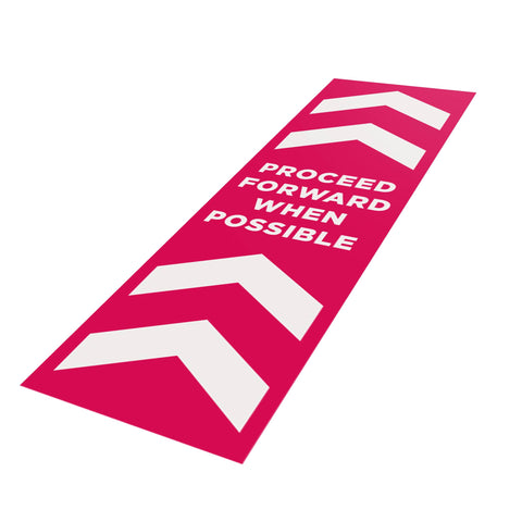 Proceed Forward When Possible - 250mm x 800mm - Social Distancing Floor Graphic