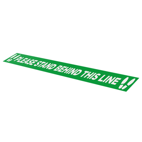 Please Stand Behind This Line - 1000mm x 70mm - Social Distancing Floor Graphic