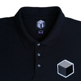 black 10XL polo t-shirt detail