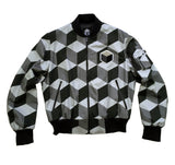 studio_805 cube tile bomber jacket front view