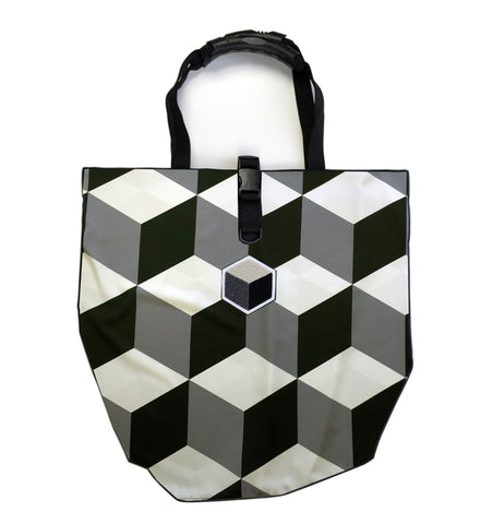 studio_805 cube tile tote bag front view