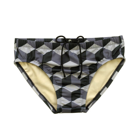studio_805 cube tile swimming trunks front view