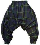 studio_805 tartan drop crotch joggers back view