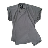 STUDIO_805 SAMPLE grey ripstop nylon unisex twisted T-shirt front view