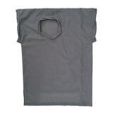 STUDIO_805 SAMPLE grey ripstop nylon twisted T-shirt front