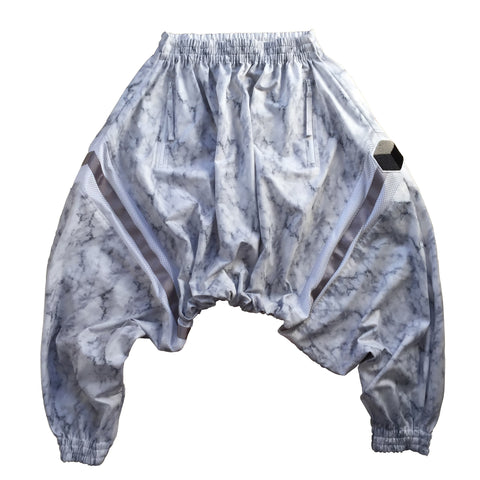 studio_805 marble drop crotch joggers front view