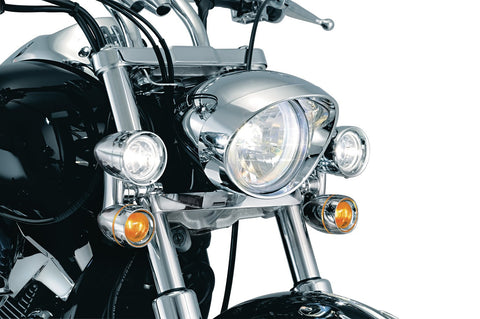 Kuryakyn Driving Lights & Indicators Fit 39mm-41mm-49mm-54-58mm Forks, Cruiser Accessories - Fat Skeleton UK