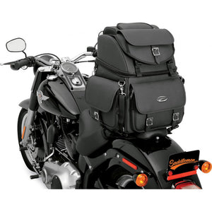 Saddlemen Back Seat / Sissy Bar Bag plain design, Motorcycle Accessories - Fat Skeleton UK