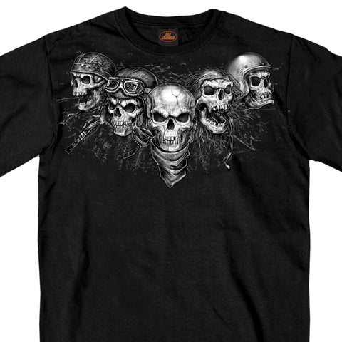Hot Leathers Five Skulls Biker T Shirt