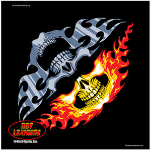 Fire & Ice Skull Jawbone Bandana, Clothing Accessories - Fat Skeleton UK