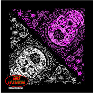 Sugar Skulls Skull Bandana, Clothing Accessories - Fat Skeleton UK