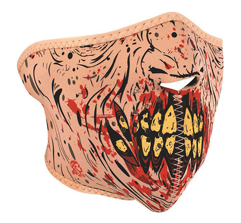 Blood Splat Zombie Half Face Mask, Face Masks - Fat Skeleton UK