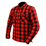 Red Check Riding Shirt with Kevlar lining + Elbow & Shoulder armour