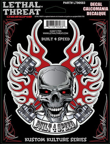 Built 4 Speed Flaming Skull, Lifestyle Accessories - Fat Skeleton UK