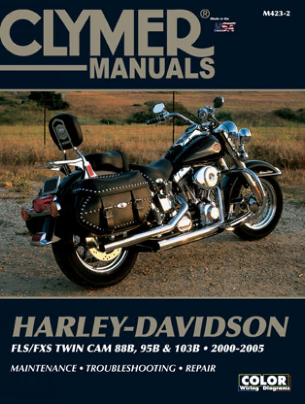 Clymer Manual for Harley Davidson Softail FLS/FSX/FXC 2000-06, Motorcycle Accessories - Fat Skeleton UK