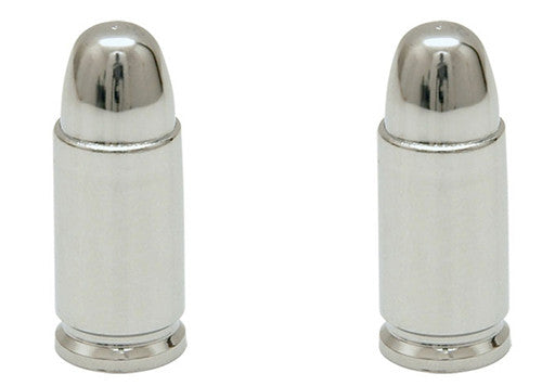 Chrome Effect Bullet Valve Caps, Motorcycle Accessories - Fat Skeleton UK