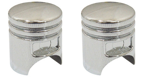 Chrome Effect Pistons Valve Caps, Motorcycle Accessories - Fat Skeleton UK