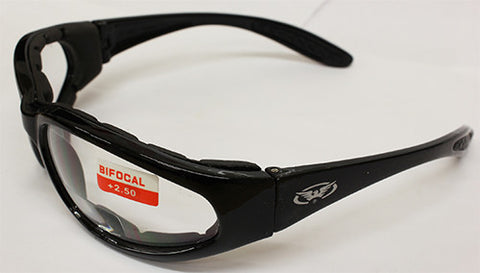 Hercules Indistructible Bi Focal Clear Lens Rider Glasses, Eyewear - Fat Skeleton UK