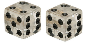 Clear Lucky Dice Valve Caps, Accessories - Fat Skeleton UK