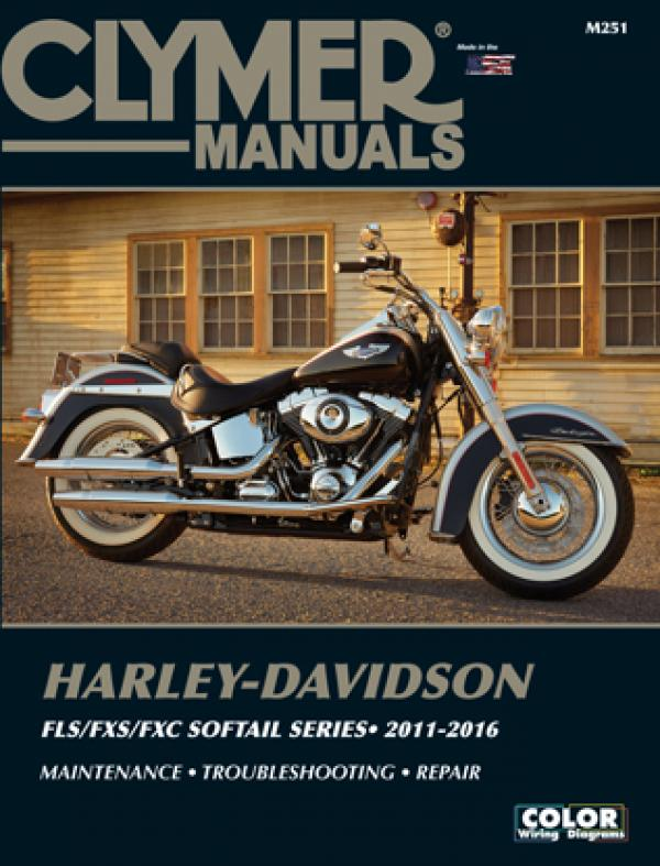 Clymer Manual for Harley Davidson Softail FLS/FSX/FXC 2011-2106, Motorcycle Accessories - Fat Skeleton UK
