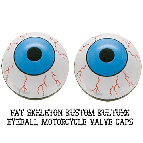 Custom Eyeball Valve Caps, Motorcycle Accessories - Fat Skeleton UK