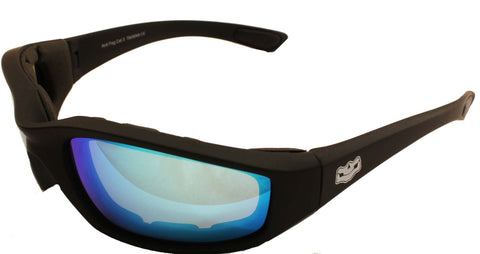 Fat Skeleton Daytona EVA Foam Padded Blue G Tech Lens Sunglasses