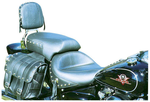 Mustang Wide Touring Seat for Yamaha Dragstar 650 Custom & Classic, Cruiser Accessories - Fat Skeleton UK