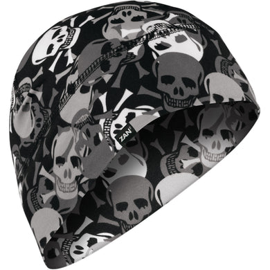 Zan All Over Skull Beanie, Clothing Accessories - Fat Skeleton UK