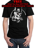 Body Shop Retro Glamour Pin Up & Chopper Biker T Shirt FACEBOOK 25, Mens Clothing - Fat Skeleton UK