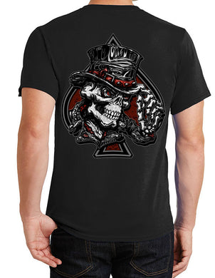 Fat Skeleton Top Hat Skull logo T Shirt, Mens Clothing - Fat Skeleton UK