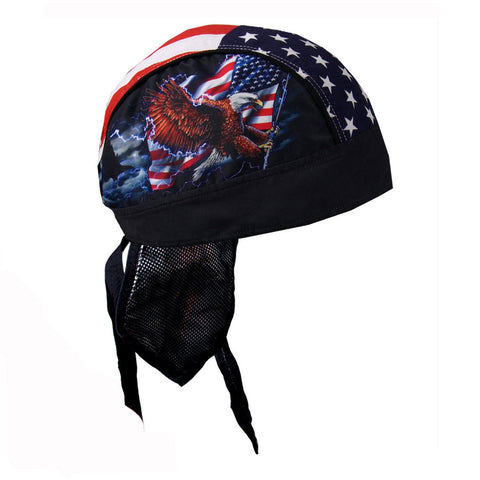 American Flag & Eagle Pre-Tied Zandana - Bandana, Clothing Accessories - Fat Skeleton UK