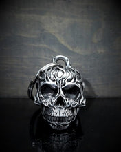 Flame Red Eye Skull Bell Guardian Gremlin, Lifestyle Accessories - Fat Skeleton UK