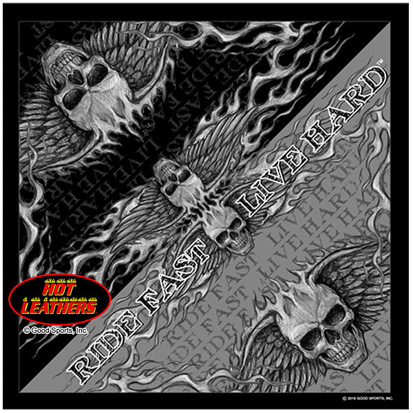 Flying Skull Bandana, Clothing Accessories - Fat Skeleton UK