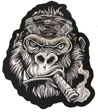 Lethal Threat Bandana Gorilla LARGE sew on patch, Lifestyle Accessories - Fat Skeleton UK