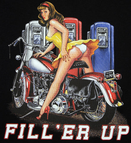 Fill er up garage pin up classic harley design t shirt fat fill er up garage pin up classic harley design t shirt mens clothing freerunsca Images