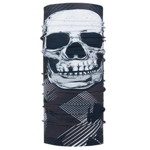 4 Way Stretch ORIGINAL BUFF Geosku Grey Multi, Neck Warmers & Face Masks - Fat Skeleton UK
