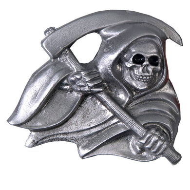 Grim Reaper Belt Buckle, Clothing Accessories - Fat Skeleton UK
