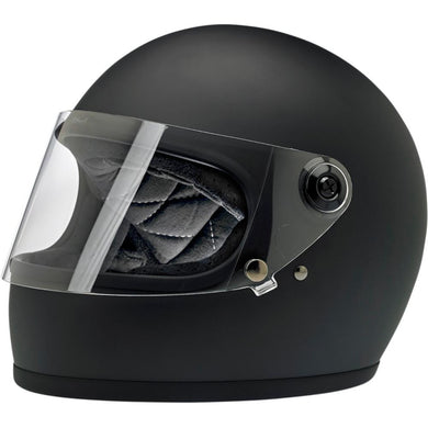Biltwell Gringo S Matt Black Retro Full Face Helmet, Full Face Helmets - Fat Skeleton UK