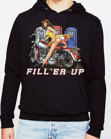 Fill 'Er Up Risque' pin up HOODIE