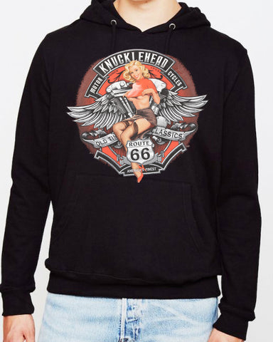 Offer - Knuckle Head Motorcycles pin up HOODIE