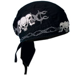 Barb Wire Skulls  Pre-Tied Zandana - Bandana, Clothing Accessories - Fat Skeleton UK