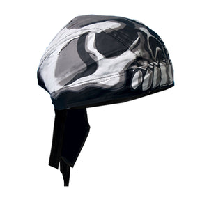 White Skull Pre-Tied Zandana - Bandana, Clothing Accessories - Fat Skeleton UK