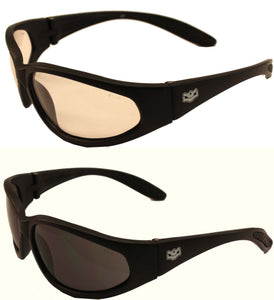 Fat Skeleton Idestructible Reactalite Rider Glasses Clear to Dark, Eyewear - Fat Skeleton UK